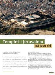 Templet i Jerusalem - Selskab for Bibelsk Arkæologi