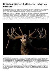 Kronens hjorte til glæde for folket og naturen - Naturstyrelsen