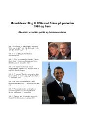 Materialesamling til USA med fokus på perioden 1990 og frem