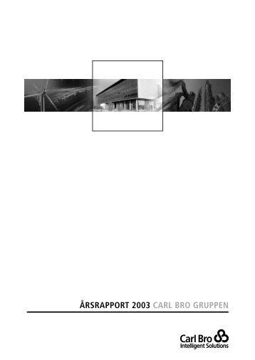 ÅRSRAPPORT 2003 CARL BRO GRUPPEN - Grontmij