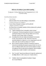 Indkaldelse til ordinær generalforsamling - grundejerforeningen ...