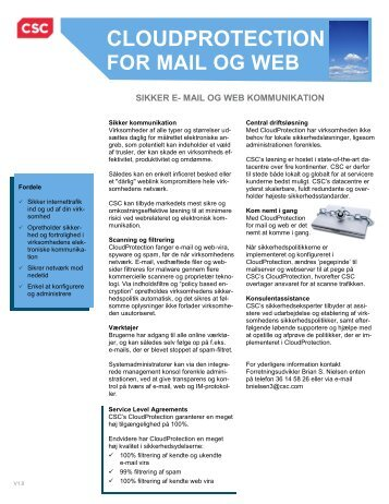 cloudprotection for mail og web - CSC