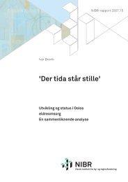 'Der tida står stille' - Norsk institutt for by- og regionforskning