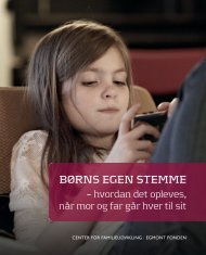 BØRNS EGEN STEMME - Center for Familieudvikling