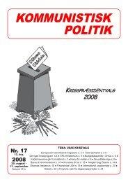 Kommunistisk Politik 17, 2008
