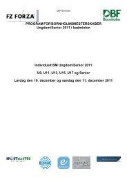 PROGRAM FOR BORNHOLMSMESTERSKABER ... - DBF Bornholm