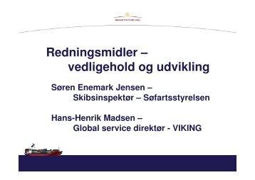 Redningsmidler – vedligehold og udvikling - Skibsteknisk Selskab