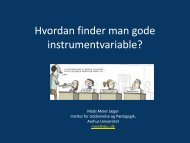 Hvordan finder man gode instrumentvariable?