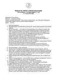Bestyrelsesmøde 27. november 2008 - DSOG