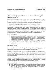 Aftale om satspuljen på sundhedsområdet - Sundhedsministeriet