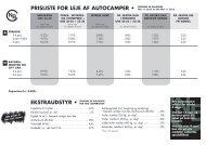 prisliste for leje af autocamper - WebKontrol V.5 | Bakuri A/S