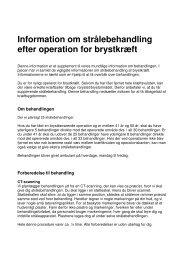 Information om strålebehandling efter operation for brystkræft - DBCG