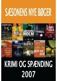Årets bøger 2007 - krimi og spænding - Vejle Bibliotekerne