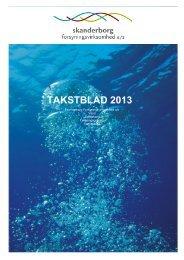 Her ses takstblad for 2013. - Skanderborg Forsyning
