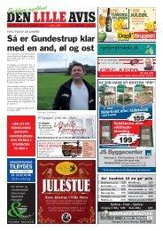 Så er Gundestrup klar med en and, øl og ost - Isager Bogtryk
