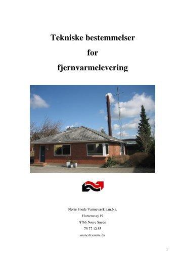 Tekniske bestemmelser - Nørre Snede Varmeværk Amba
