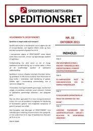 Speditionsret nr. 32 - Danske Speditører