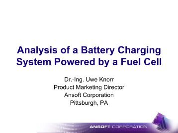 Analysis of a Battery Charging System Powered by a Fuel Cell