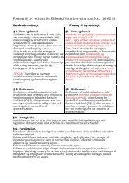Forslag til ny vedtægt for Birkerød Vandforsyning a.m.b.a. 16.02.11