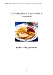 Det danske julemåltid gennem 100 år Bjarne Salling ... - Klios Verden