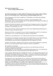 Bestyrelsens beretning for 2012 - GF Forsikring
