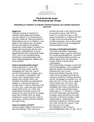 Photodynamisk terapi PDT (Photodynamisk Terapi)