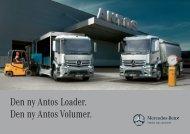 Den ny Antos Loader. Den ny Antos Volumer. - Mercedes-Benz Trucks