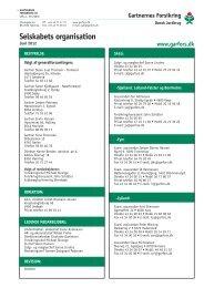 Selskabets organisation - Gartnernes Forsikring