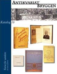 Katalog 16 – Varia - Antikvariat Bryggen