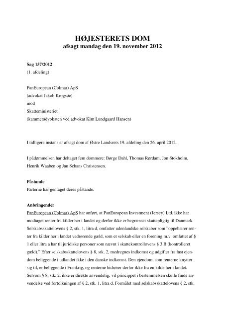 Læs hele dommen - Domstol.dk