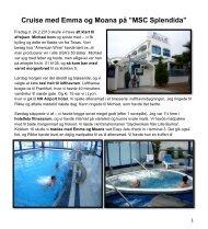 Cruise med Emma og Moana i Middelhavet 2013.
