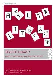 Health literacy - Sundhedsstyrelsen