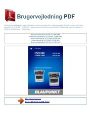 Brugsanvisning BLAUPUNKT IVMR-9002 - Brugervejledning
