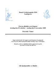 Indledende runde (landsprøve) 2010