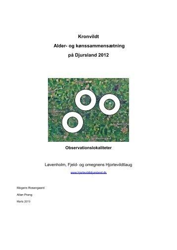 Kronvildt Alder- og kønssammensætning på Djursland 2012