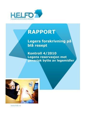Legens reservasjon mot generisk bytte av legemidler.pdf - Helfo