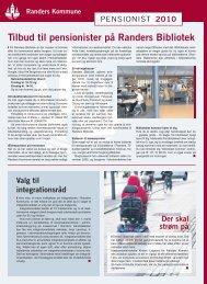 Tilbud til pensionister på Randers Bibliotek - Randers Kommune