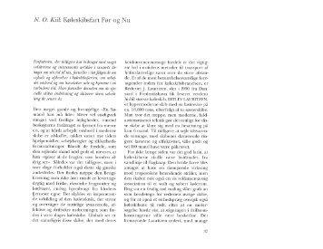 N. O. Kiil: Køleskibsfart Før og Nu