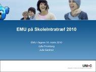 EMU i fagene - Om SkoleIntra