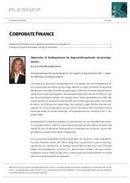 CORPORATE FINANCE - Plesner