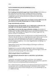 Altan 1 VIGTIG INFORMATION OM DIN KOMMENDE ALTAN. Info ...