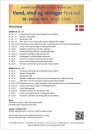 Download hele programmet her (pdf, 0.6 MB) - Vikingeskibsmuseet