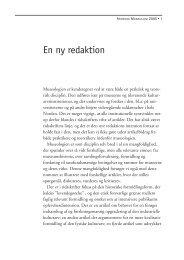 En ny redaktion - Nordisk Museologi