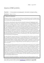 Spørgeskemaundersøgelse august 2003 - okoforsk