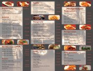 menukaart - Kampong Kita