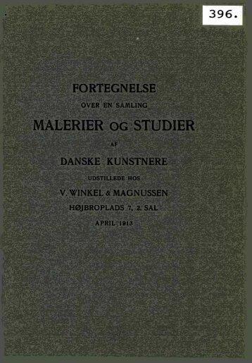 MALERIER OG STUDIER