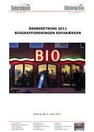 ÅRSBERETNING 2011 BIOGRAFFORENINGEN ... - Glostrup Bio