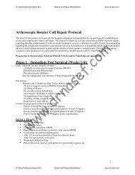 Arthroscopic Rotator Cuff Repair Protocol - Dr Nasef