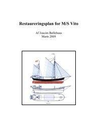 M/S Vitos restaureringsplan - Det Gamle Værft