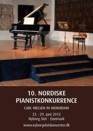 10. NORDISKE PIANISTKONKURRENCE - Nyborg Slotskoncerter